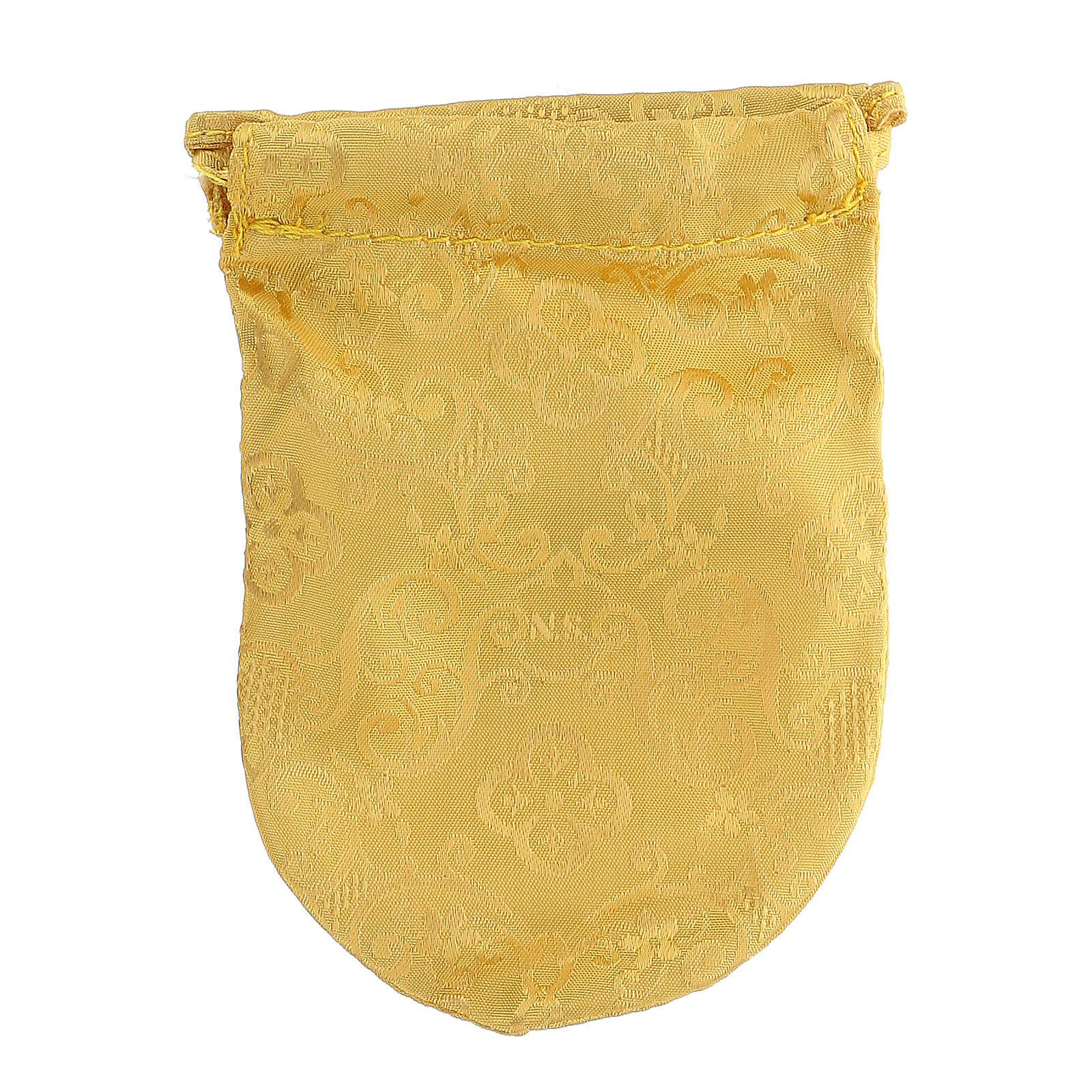 Sacchetto porta teca in jacquard giallo teca 8 cm 3