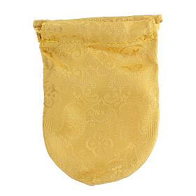 Viaticum burse in yellow Jacquard fabric 3 in pyx s6