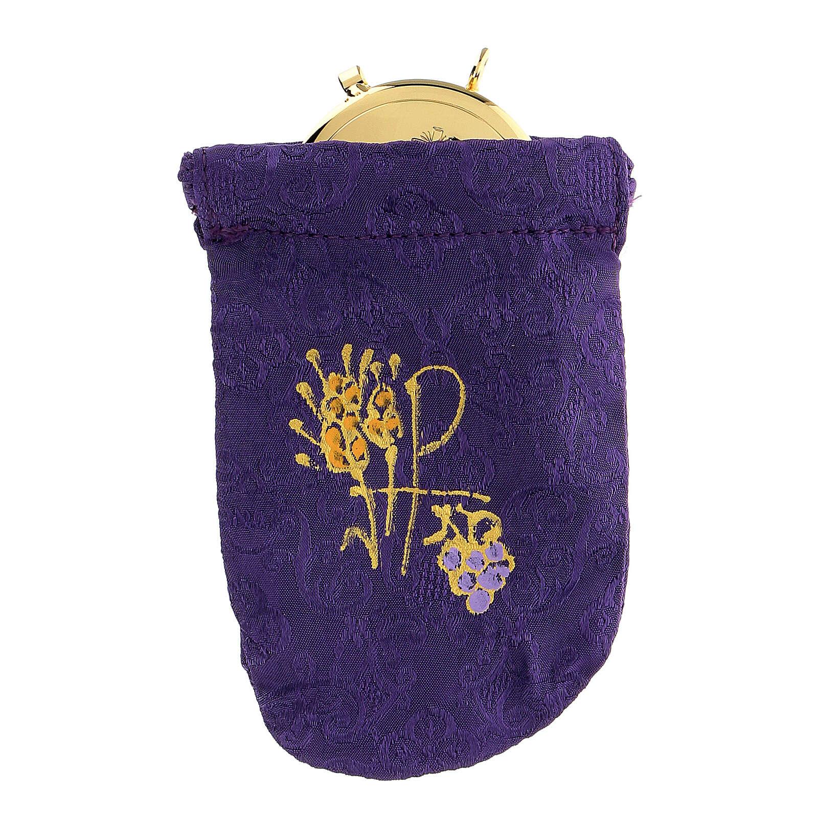 Sacchetto porta teca violain jacquard teca 8 cm 3