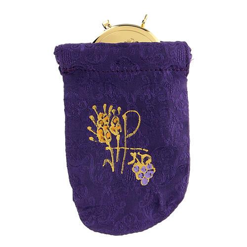 Sacchetto porta teca violain jacquard teca 8 cm 1