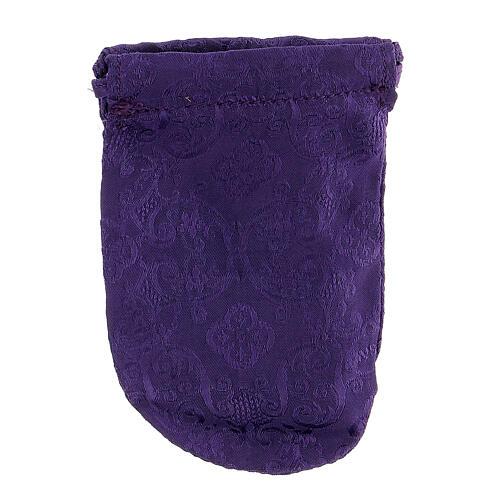 Sacchetto porta teca violain jacquard teca 8 cm 6