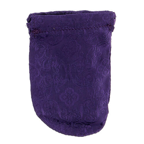 Viaticum burse in purple Jacquard fabric 3 in pyx 6