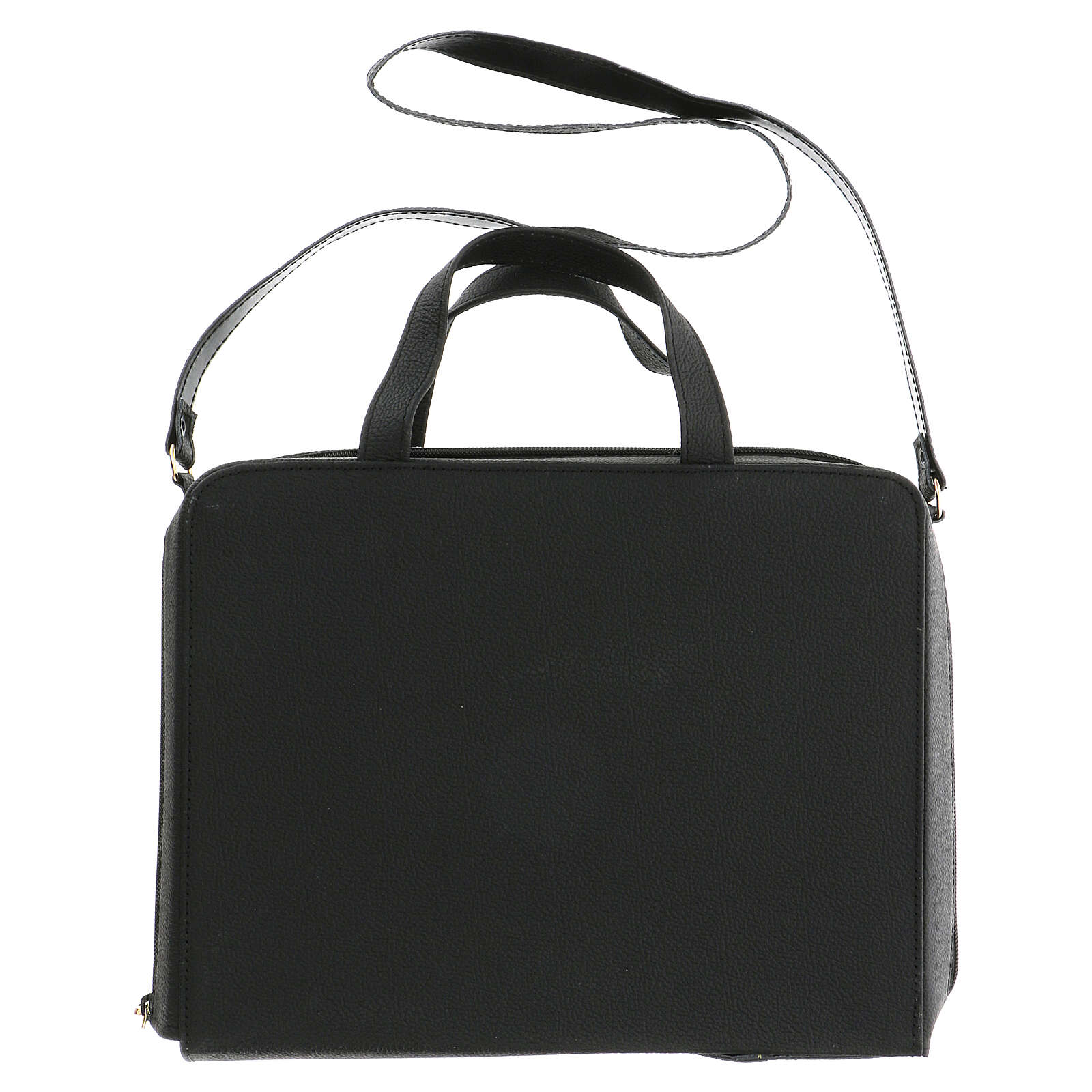 Handle leather bag with shoulder belt 3