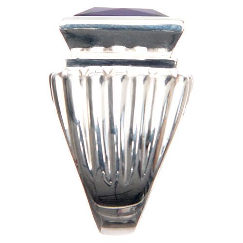 Anillo obispal plata 800 con amatista 4