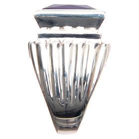 Anello vescovile argento 800 giada color ametista s4