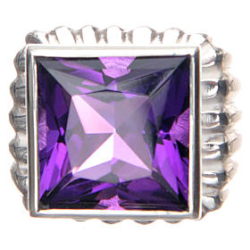 Bishop Ring in silver 800 with amethyst stone s3
