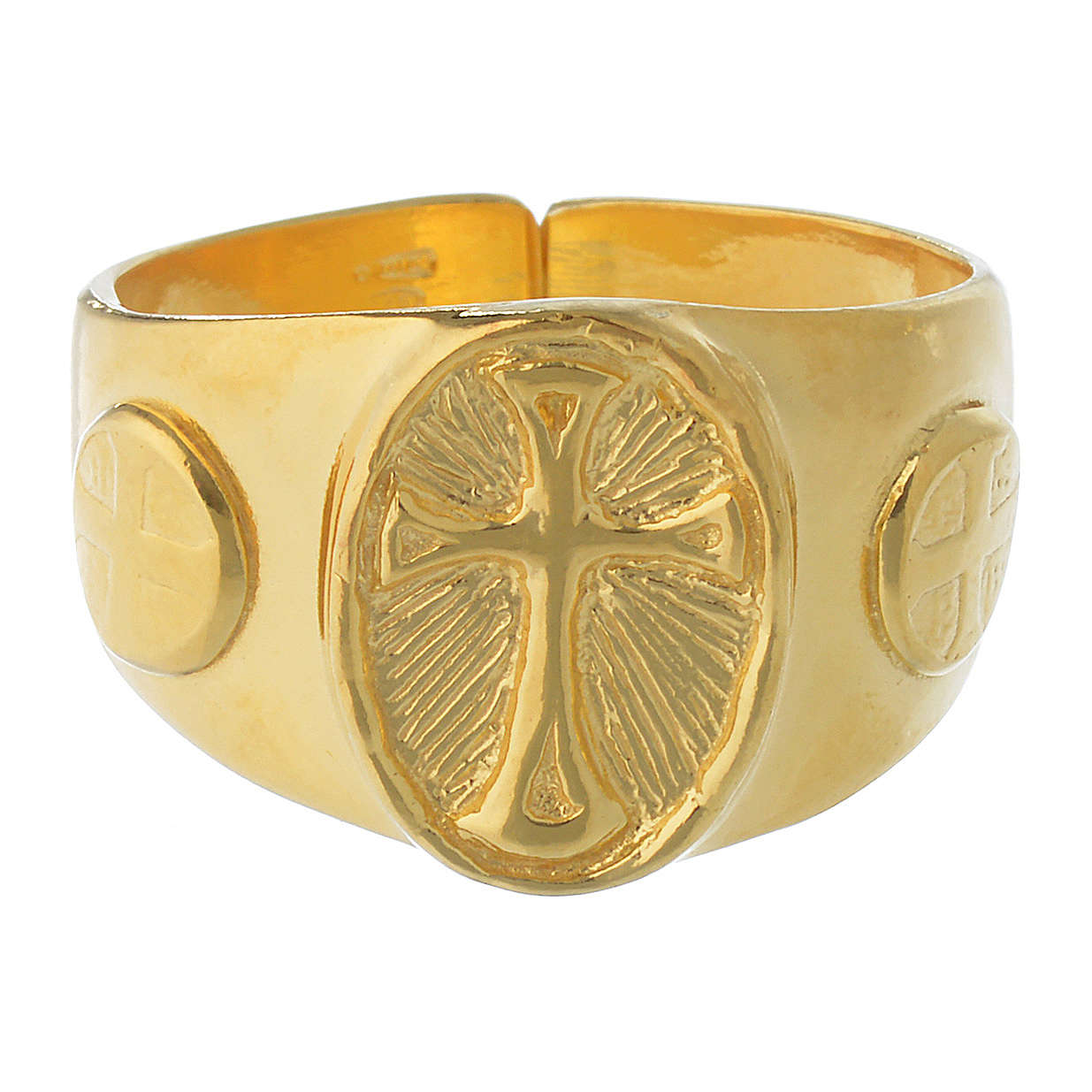 Bishop Ring in gold plated silver 925 3