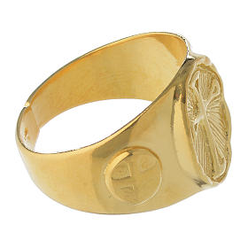 Anillo obispal de plata 925, dorado s3