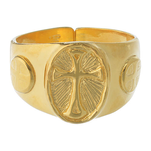 Bishop Ring in gold plated silver 925 2