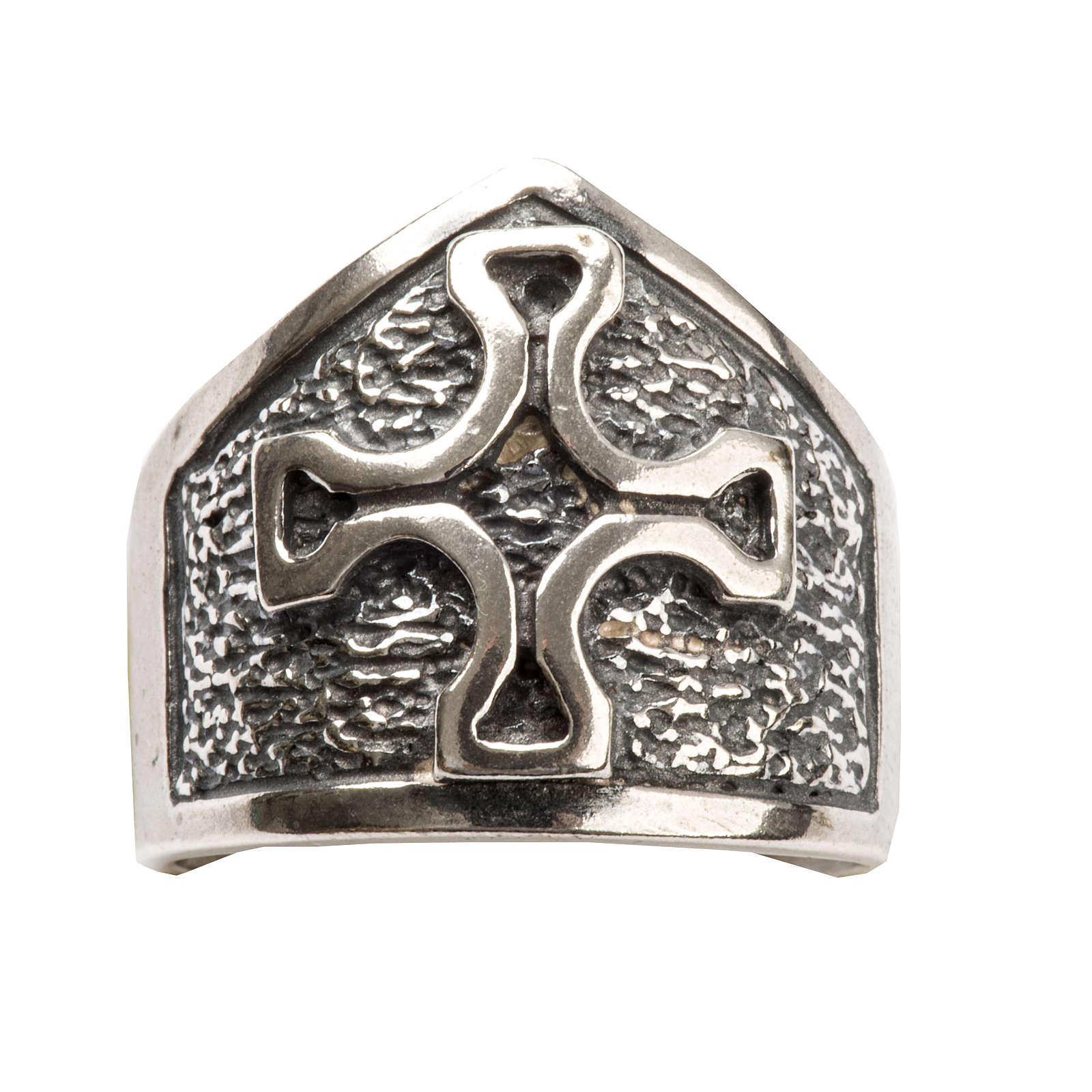 Anillo obispal con cruz de plata 925 3