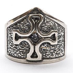 Anillo obispal con cruz de plata 925 s3