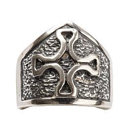 Anillo obispal con cruz de plata 925 s5