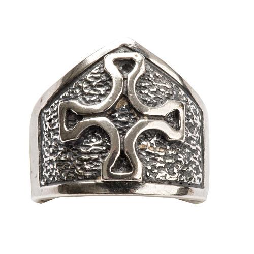 Anillo obispal con cruz de plata 925 5
