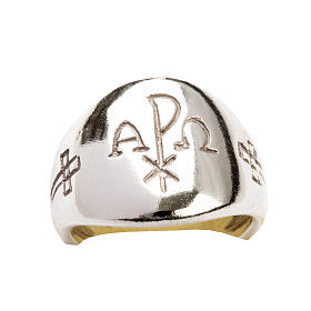 Ecclesiastical Ring - Chi-Rho, Alpha and Omega s6