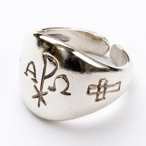 Ecclesiastical Ring - Chi-Rho, Alpha and Omega 2