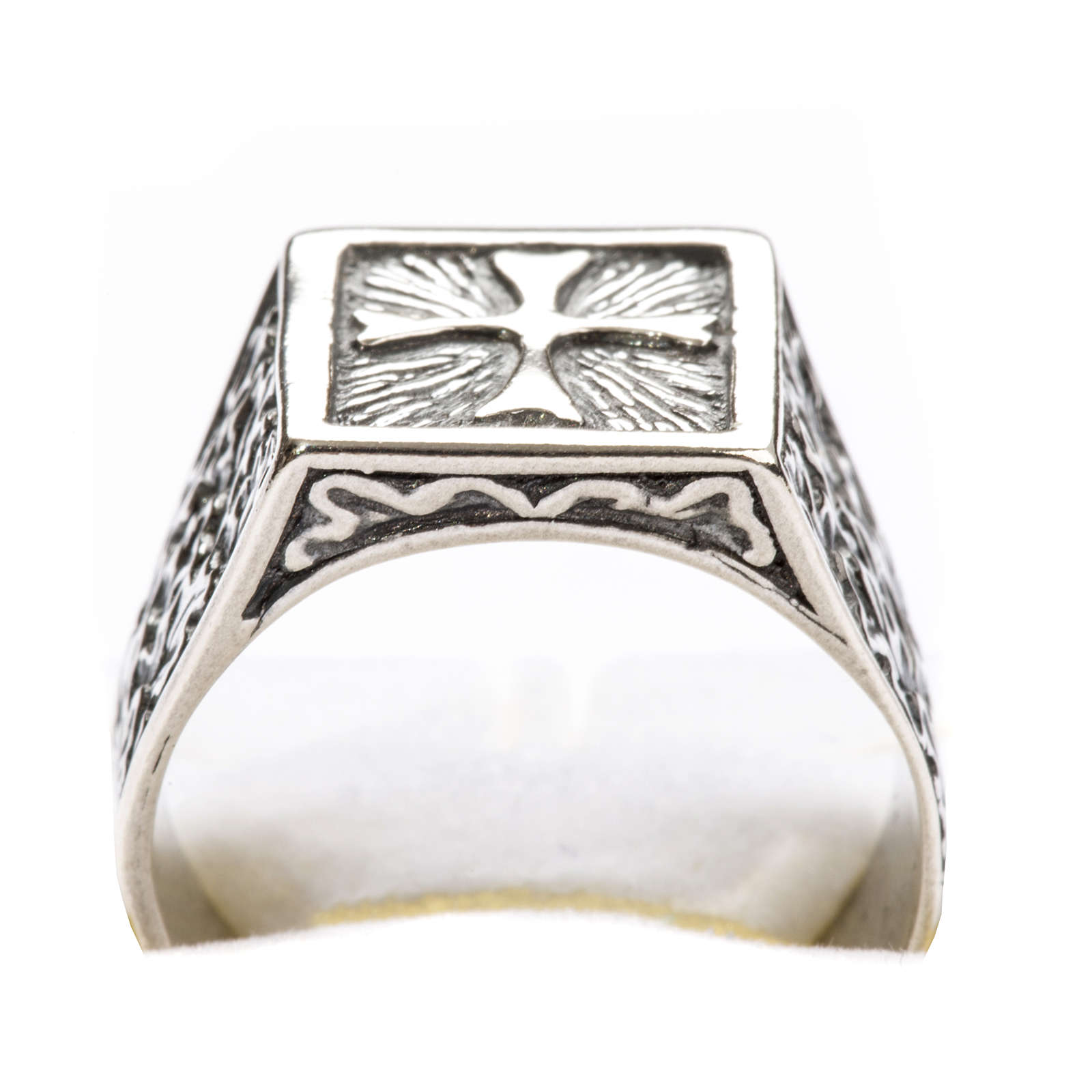 Anello per vescovi croce argento 800 3