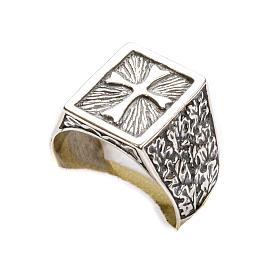 Anello per vescovi croce argento 800 s6