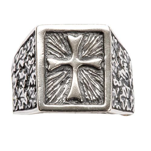 Anello per vescovi croce argento 800 4