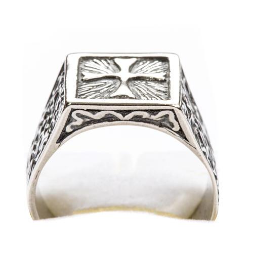 Anello per vescovi croce argento 800 5
