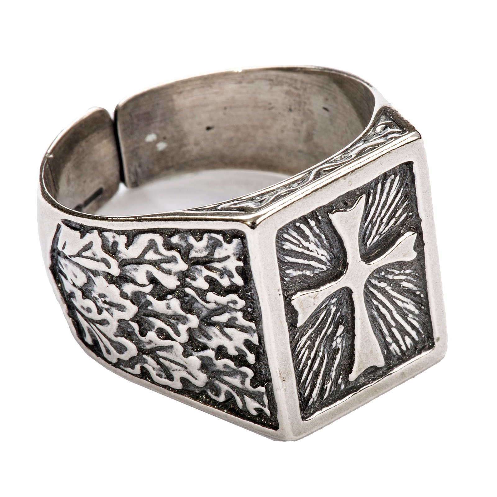 Bishop Ring, silver 800 with cross decoration 3