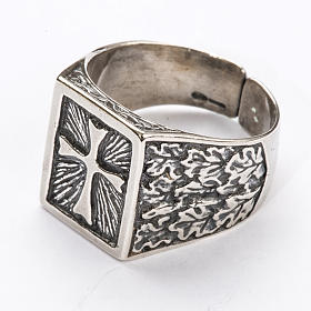 Bishop Ring, silver 800 with cross decoration s2
