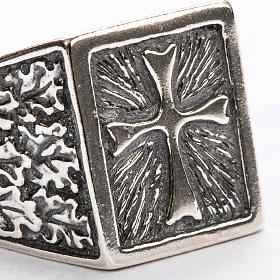 Bishop Ring, silver 800 with cross decoration s3