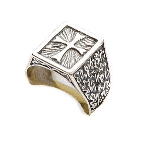 Bishop Ring, silver 800 with cross decoration s6