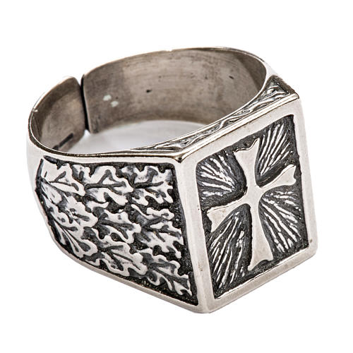 Bishop Ring, silver 800 with cross decoration 1