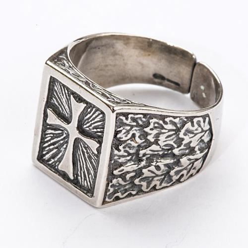 Bishop Ring, silver 800 with cross decoration 2