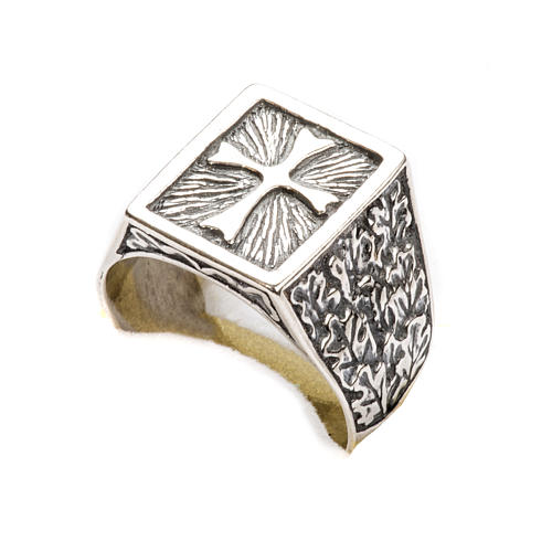Bishop Ring, silver 800 with cross decoration 6