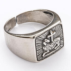 Bishop Ring in silver 925, lamb s1