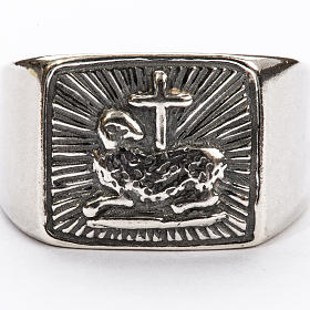 Bishop Ring in silver 925, lamb s3