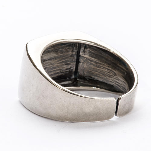 Bishop Ring in silver 925, lamb 4