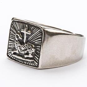 Anillo obispal  de plata 925, con cordero s2