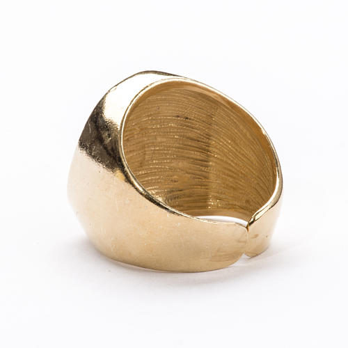 Bishop Ring in gold plated silver 800, Christ's face 7