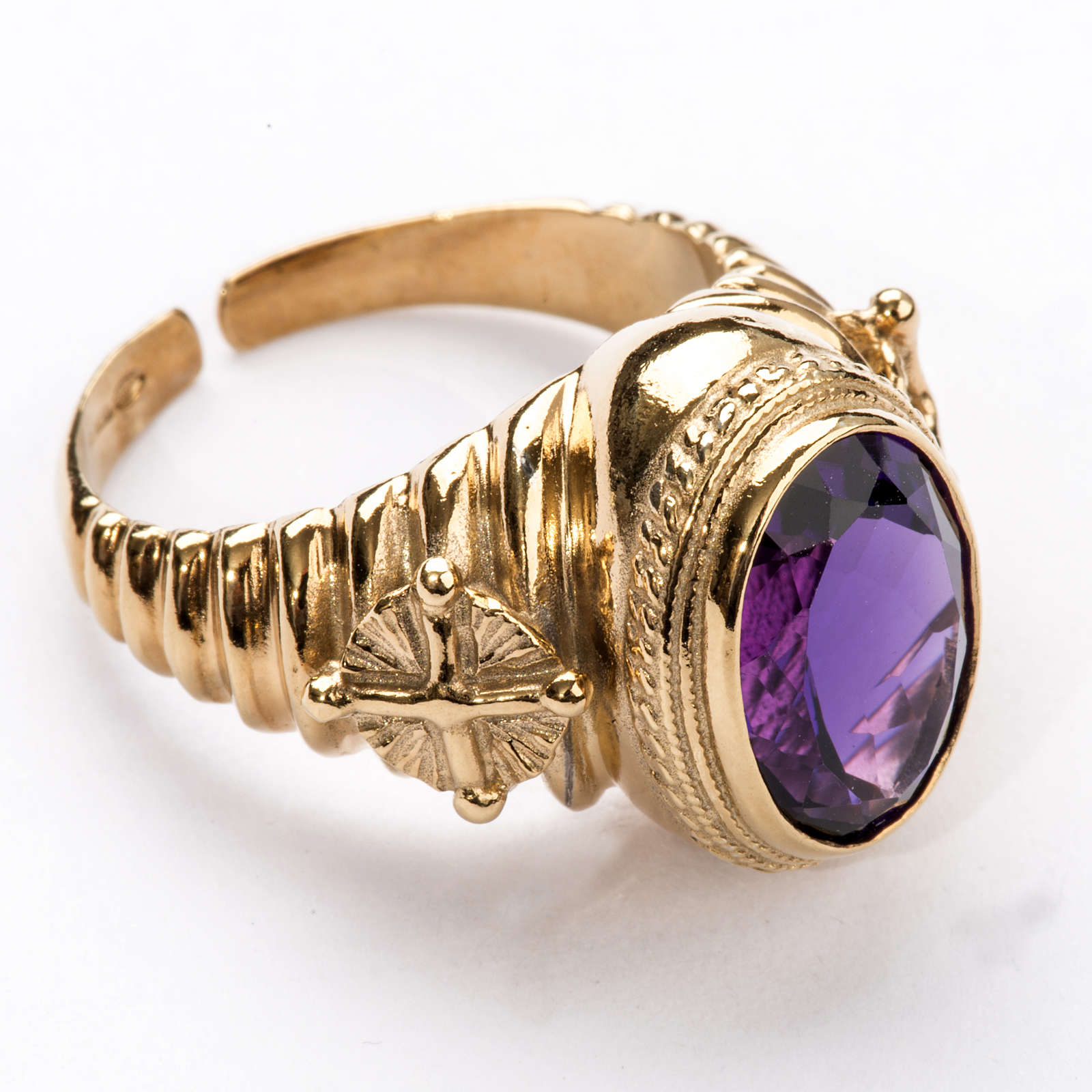 Ecclesiastical Ring made of silver 925 with Amethyst 3
