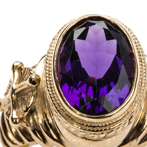 Ecclesiastical Ring made of silver 925 with Amethyst 5