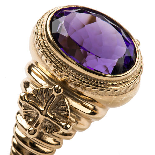 Ecclesiastical Ring made of silver 925 with Amethyst 6