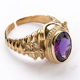 Ecclesiastical Ring made of silver 925 with Amethyst s1
