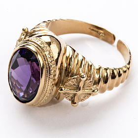 Ecclesiastical Ring made of silver 925 with Amethyst s2