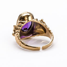 Ecclesiastical Ring made of silver 925 with Amethyst s3