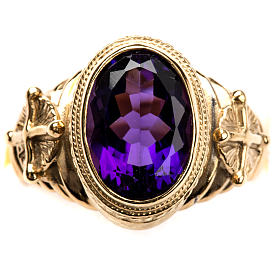 Ecclesiastical Ring made of silver 925 with Amethyst s4