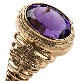 Ecclesiastical Ring made of silver 925 with Amethyst s6