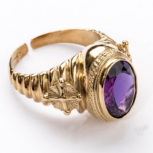 Ecclesiastical Ring made of silver 925 with Amethyst 1