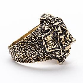 Anello per vescovi argento 925 bronzato Volto di Cristo s4