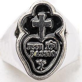 Anneau épiscopal argent 800 Jesu XPI Passio s4