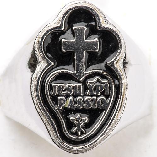Anneau épiscopal argent 800 Jesu XPI Passio 4
