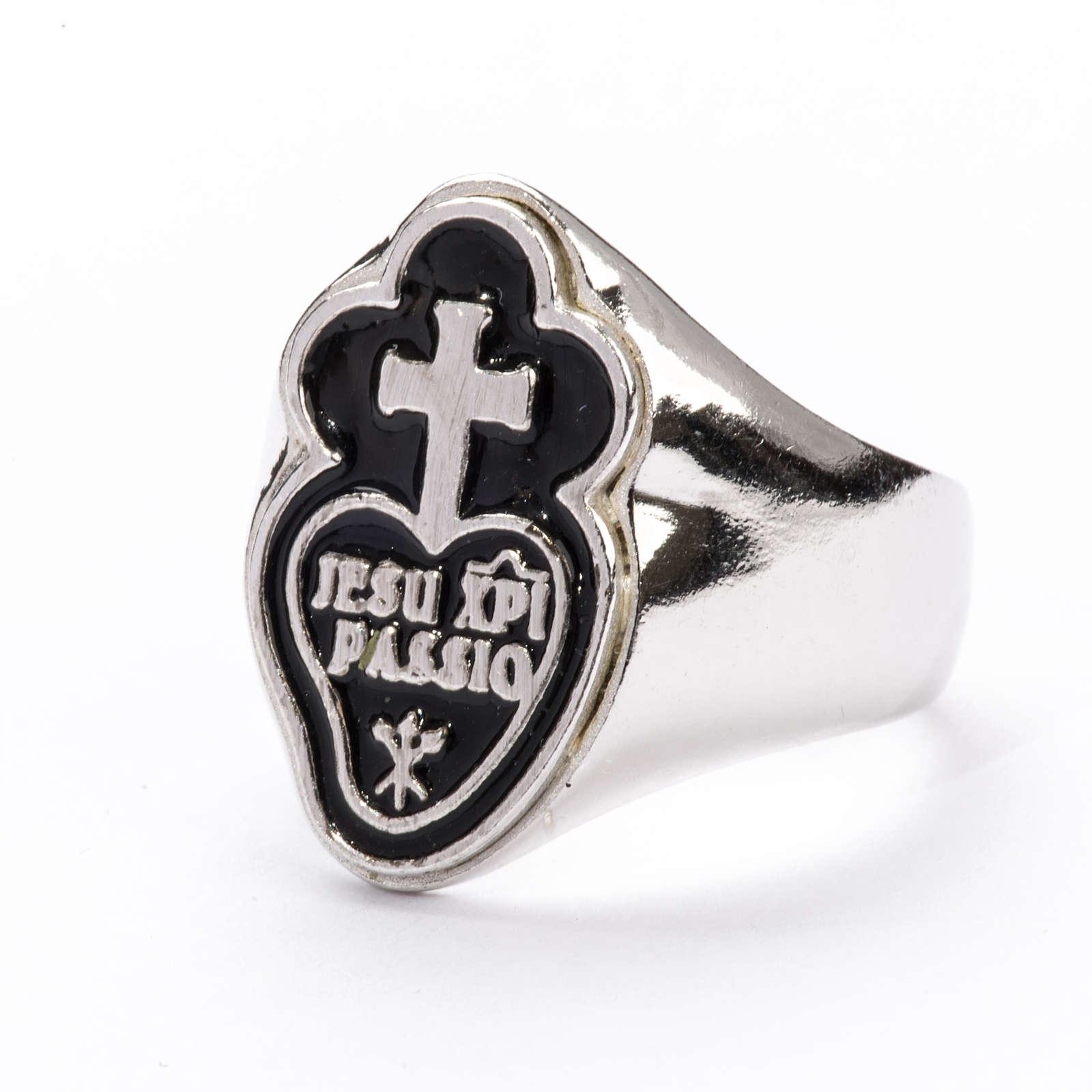 Anello per vescovi argento 925 Jesu Xpi Passio 3