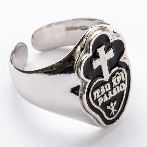 Bishop's Ring in silver 925, Jesu Xpi Passio, adjustable 1