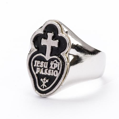 Bishop's Ring in silver 925, Jesu Xpi Passio, adjustable 2